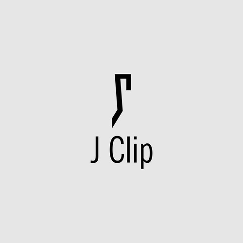 Simple logo for J Clip