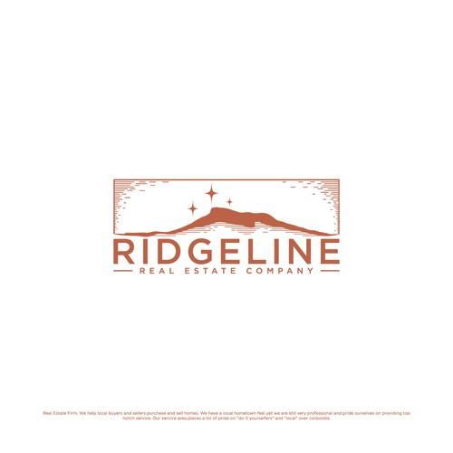 vintage mountain for real estate logo