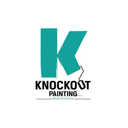 Concept logo for painter & decorator