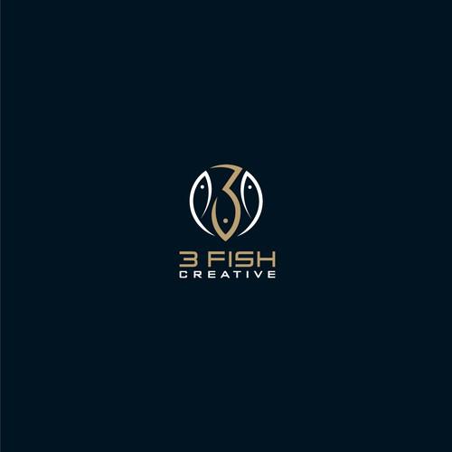 3 fish Creative logo concept