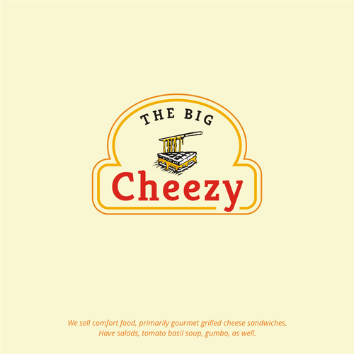 Distinctive logo for grilled cheese restaurant