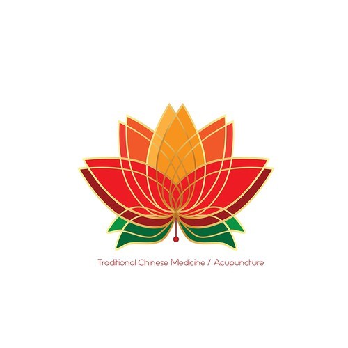 Elegant logo with brigh colors for a traditional chinese medicine cabinet