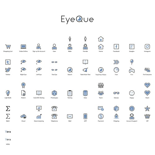 Line Icons for Eyeque
