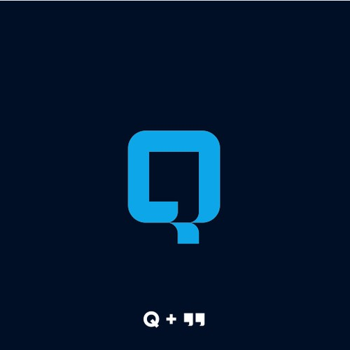 "letter Q + "" (quotes) logo concept for Quoteble"