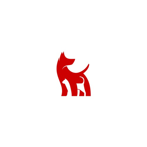 bold logo design for woof pack pet care