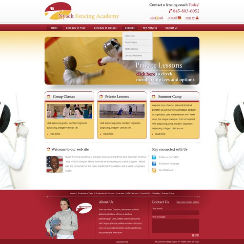 Elite Fencing Academy Website (PSD)