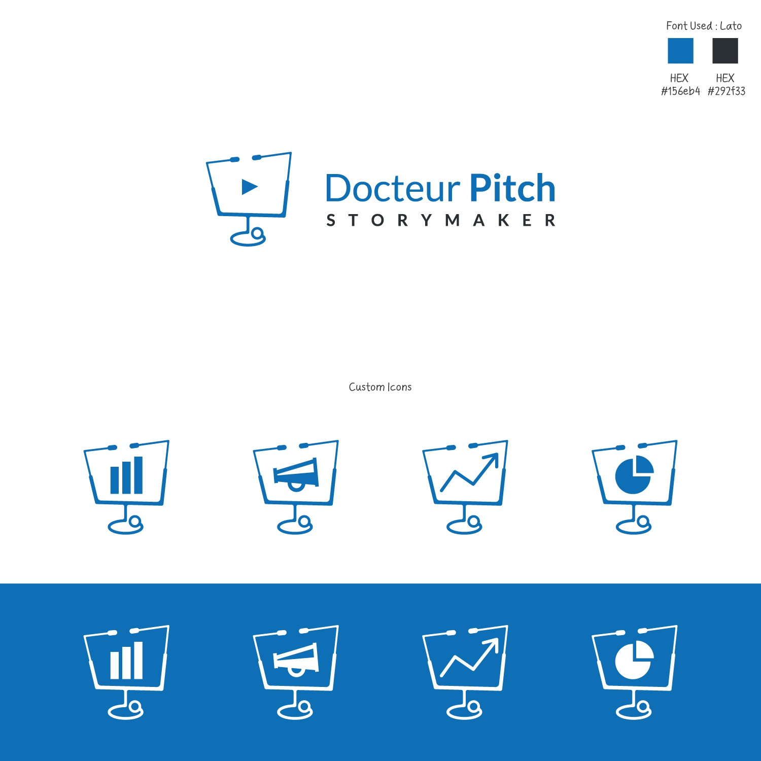 Design a logo for a Communication Coach and Powerpoint Producer - Docteur Pitch