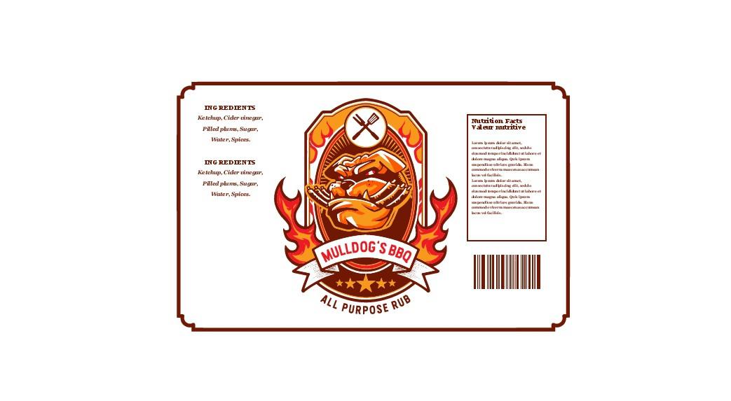 BBQ Rub Label