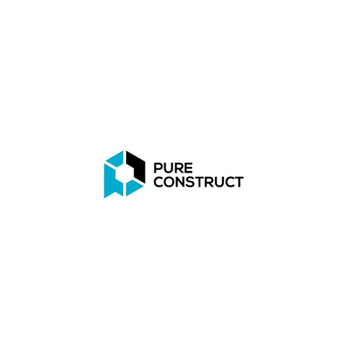 Sophisticated logo for Pure Construct