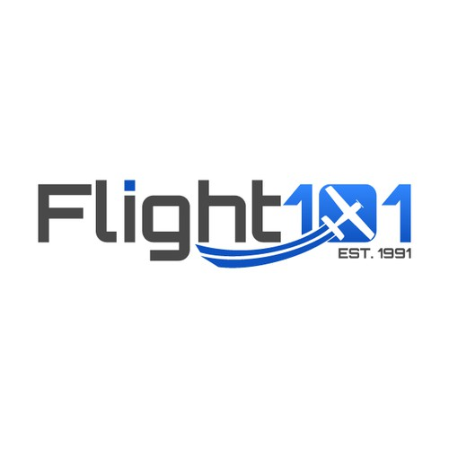 Create a memorable aviation logo for Flight 101