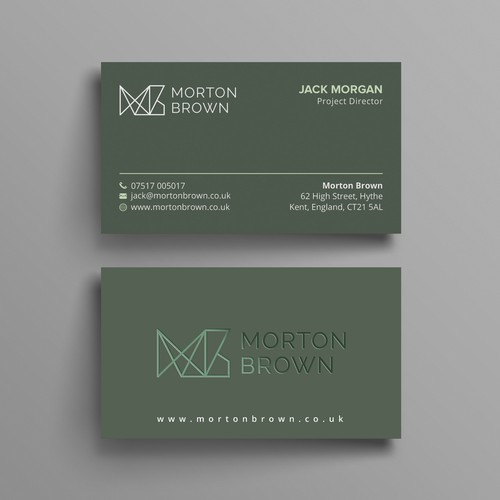 Clean & Bold business card
