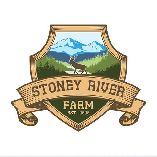Classic logo concept for Stoney River Farm