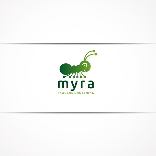 Ant character logo
