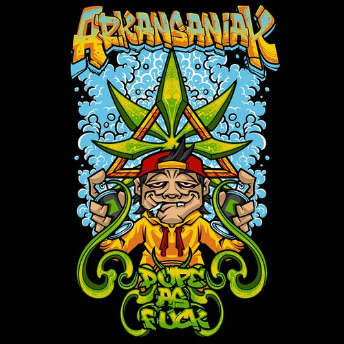 Marijuana Graffiti T-Shirt Design