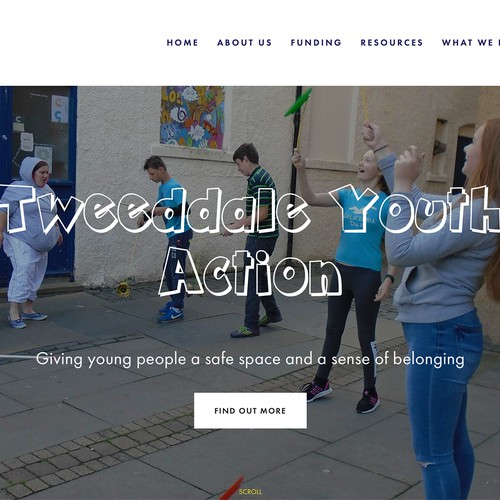 Modern website for youth club