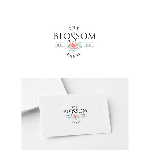 The Blossom farm Logo Design