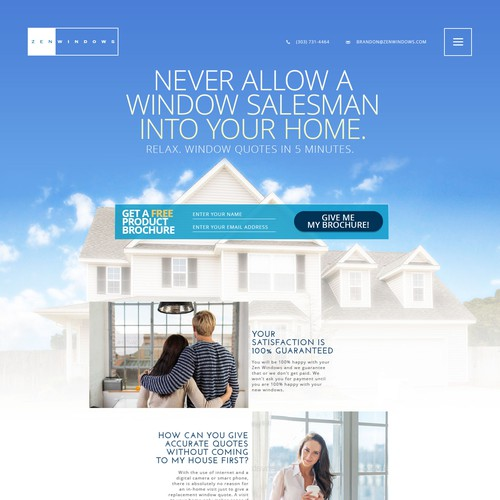 Website for a unique window replacement company