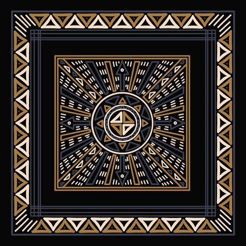 African Mud Cloth Bandana