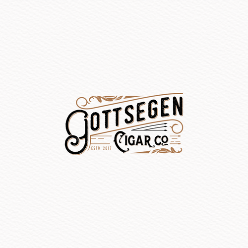 Logo mixing 1900's aesthetic with modern design