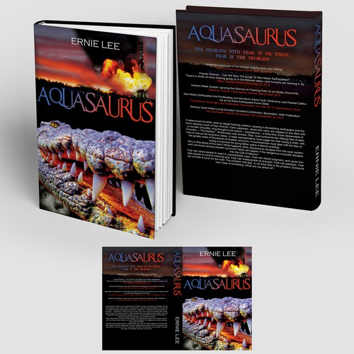 "Book Cover design - action/thriller ""Aquasaurus"""
