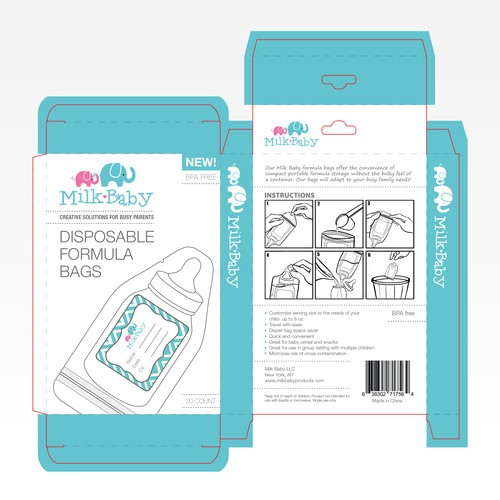 Package design with illustration of the product