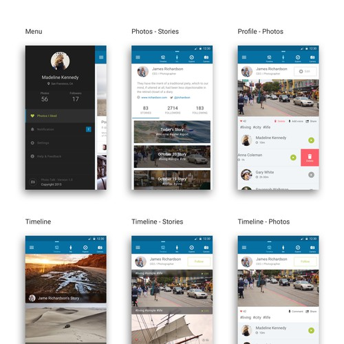 Android Photo Sharing App Design
