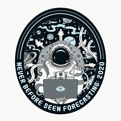 Astronaut Sticker Design