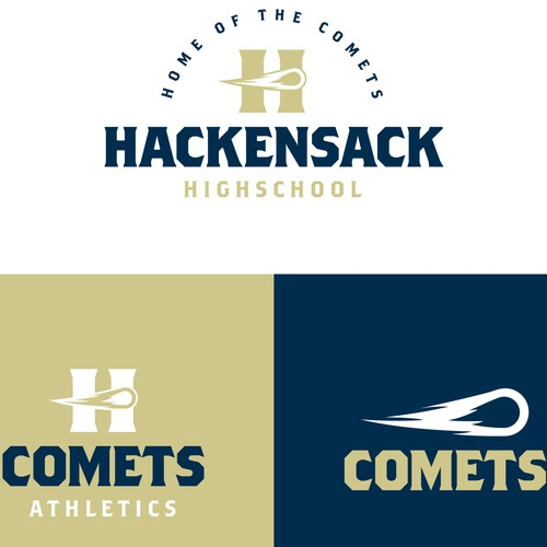 Logo system for a public highschool and athletics program