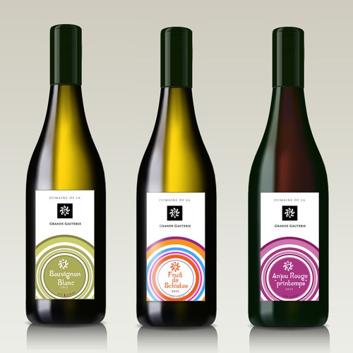Wine labels for french production.