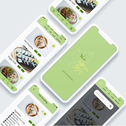 mobile design - vegan recipe