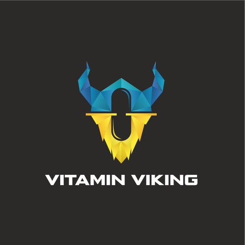 Vitamin Viking. Logo for a supplement company