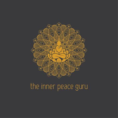Inner peace guru logo concept