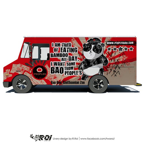 People's Bao Food Truck Wrap Design