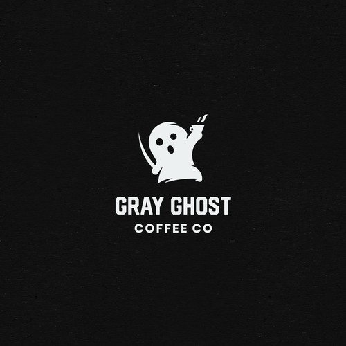 Playful Logo For Gray Ghost Coffee