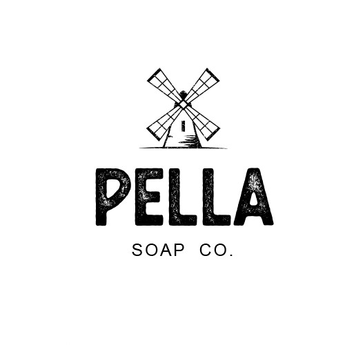 "Rustic logo concept for ""Pella Soap Co."""