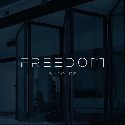 Logo design for Freedom Bi-Folds