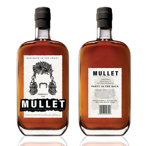 MULLET bourbon label Winner