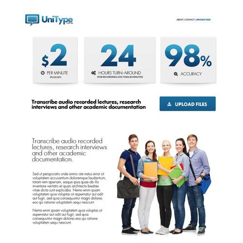 Transcription services company website