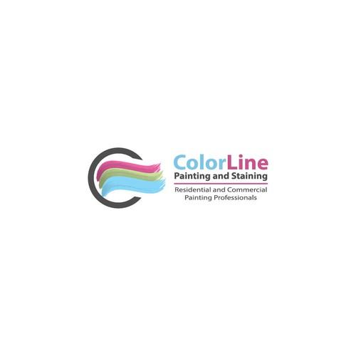 Modern logo for ColorLine