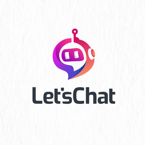 chat bot logo color modern