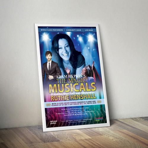 Exciting, eye-catching design needed for spectacular concert!