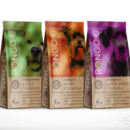 Logo and Packaging for Pet Food Company