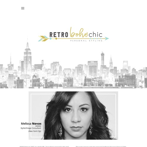 Modern & Clean Web Design for a Fashion Styling/Stylist