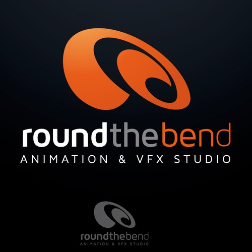 "WANTED... logo for new Animation & VFX STUDIO called ""Round the Bend"""