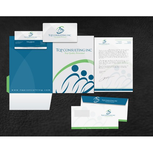 Create the next stationery for TQP (Top Quality Personnel ) Consulting Inc.