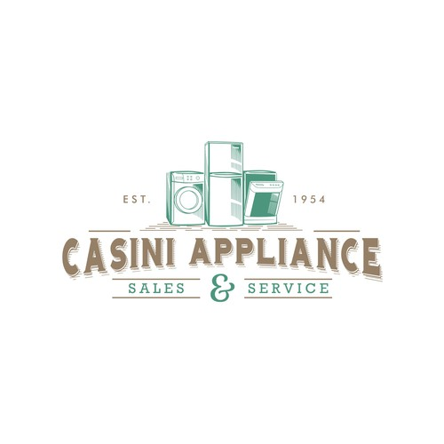 vintage logo concept for casini appliance