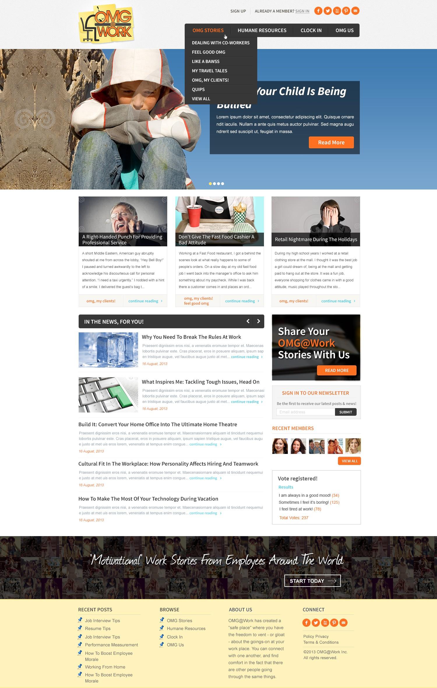 OMG at Work needs a new website design