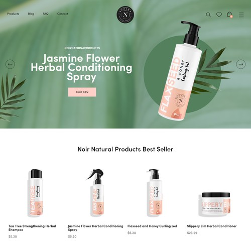 Hair care brand website development