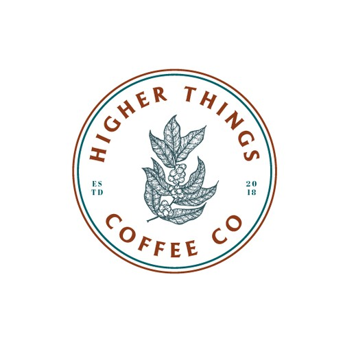 Logo Design Concept for Higher Things Coffee Co