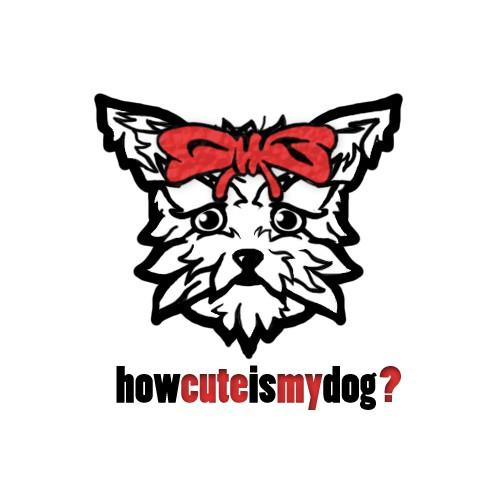 Create a cute dog logo for a social media website
